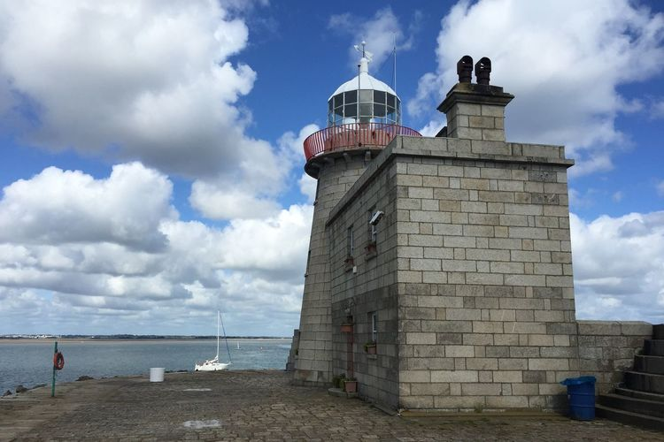 Howth lighthouse against sea