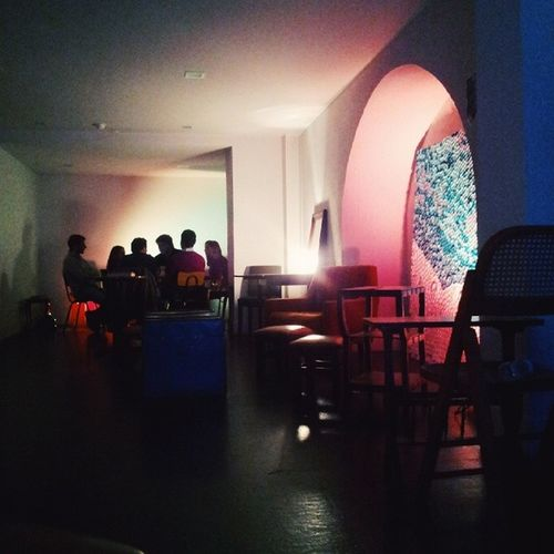 Largo. Bar people Night Lisbon