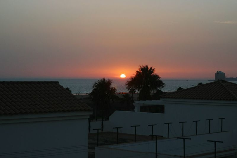 Sunset Anochecer Sun Sea Horizonte Puesta De Sol Horizon Over Water Tejados Roof Azotea Penthouse Conil Cadiz SPAIN