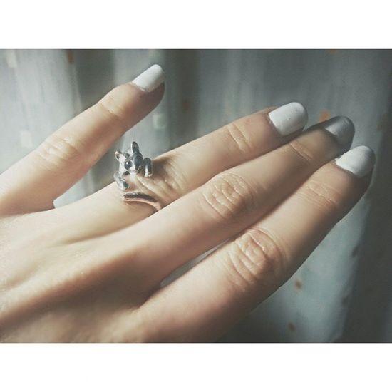Un gattimo sul mio dito! *www* 😻 Ring Anello Gatto Cat Animal Accessori Smalto Smaltobianco