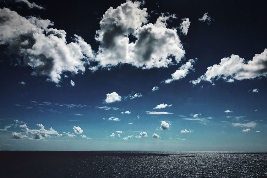 Sea Sky Cloud - Sky Horizon Over Water Scenics Beauty In Nature Water Nature Day Blue No People Outdoors Seascape Seascape Photography Clouds And Sky
