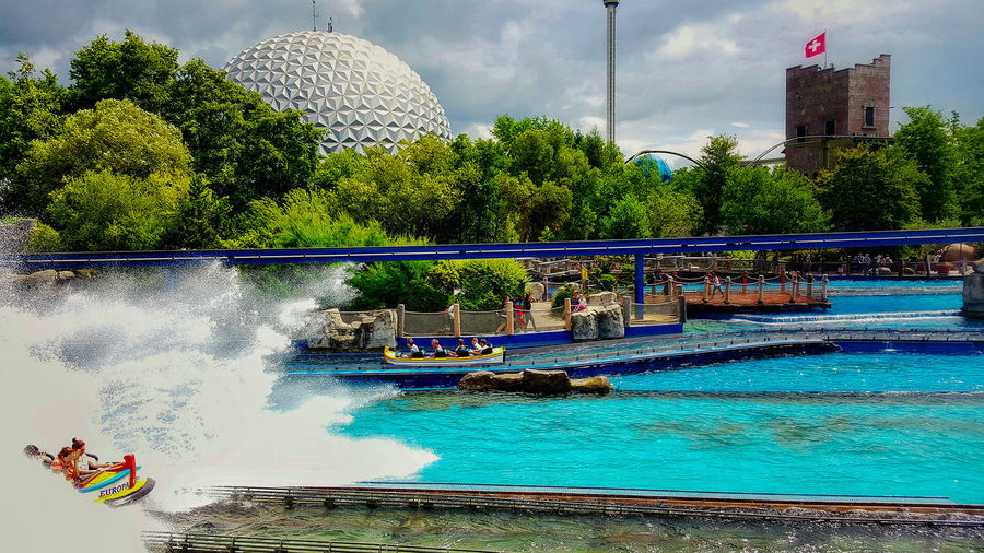Water Tree Spraying Day Outdoors No People Swimming Pool Sky Architecture Europapark Europapark Rust Europa Park