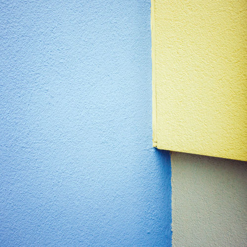 Close-up of blue wall