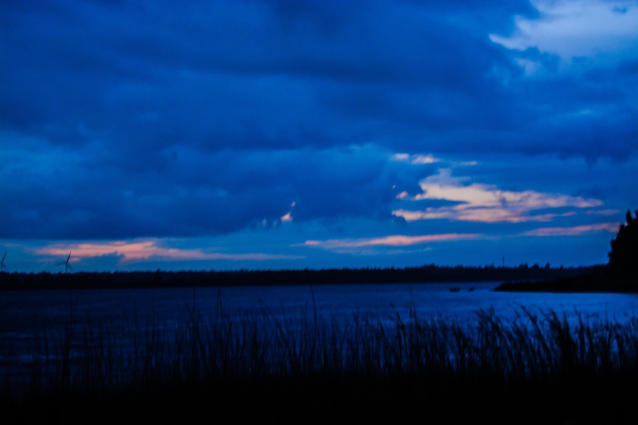 nature, beauty in nature, scenics, tranquil scene, sky, tranquility, lake, water, cloud - sky, sunset, silhouette, outdoors, no people, landscape, day