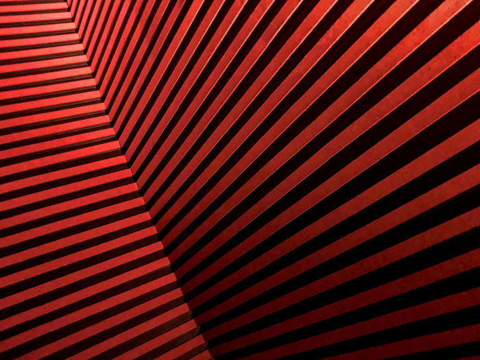Pattern Full Frame Backgrounds No People Repetition Indoors  Striped Textured  Close-up Abstract Red Design Wall - Building Feature In A Row Architecture High Angle View Wall Ceiling Textured Effect Clean Geometric Shape Light And Shadow Orange Color Abstract Backgrounds Copy Space