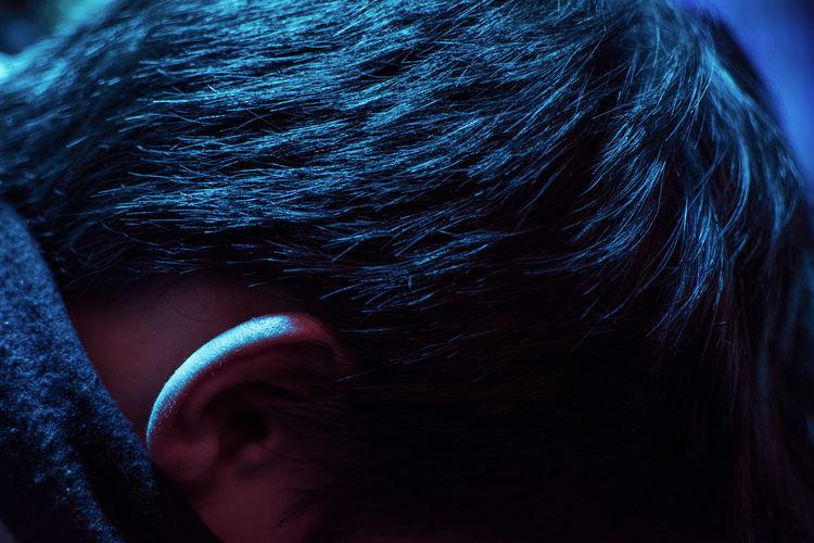 Close-up of human head
