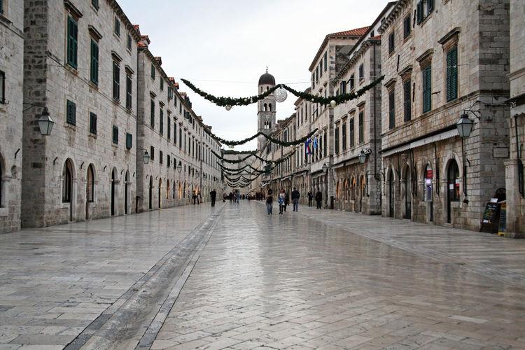 Stradun,main street of Dubrovnik by winter,Croatia,Europe,1 Architecture Building Exterior Built Structure City Culture Day Dubrovnik, Croatia History Main Street Outdoors Stradun Tourism Tourist Travel Travel Destinations Vacations Walking Winter