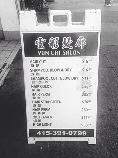 Need a new hair cut? Chinatown Cheap New Haircut