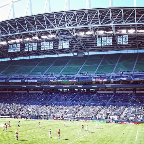 First Sounders game with @alyizzle Sounders 4-2 Chivas Centurylinkfield Seattle