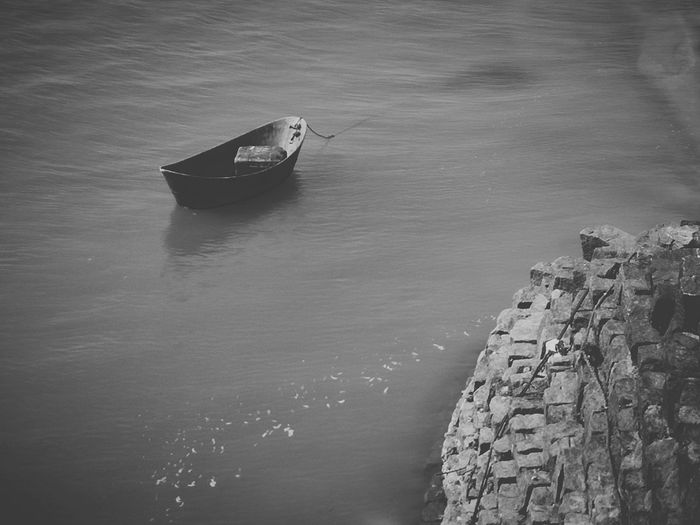 Nautical Vessel Transportation Boat Water Sea Nature Ocean Beauty In Nature No People EyeEm Best Edits EyeEm Gallery EyeEm Best Shots EyeEm Best Shots - Landscape Hi! Taking Photos From My Point Of View Black&white Black And White Collection  Black And White Photography Check This Out