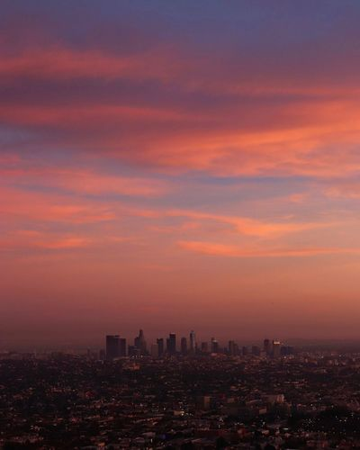 City of Stars Griffith Observatory Travel Dreams Pink West Coast California Beautiful Reality Nofilter Building Exterior Architecture Built Structure City Sky Building Cityscape Skyscraper Landscape Nature Sunset Travel Destinations Urban Skyline