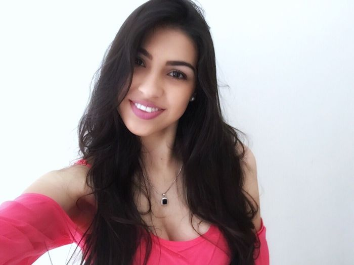 Pink Black Hair Smiling BrasilianGirl Longhair Selfie ♥ Happiness Happyday I Smille No Matter What