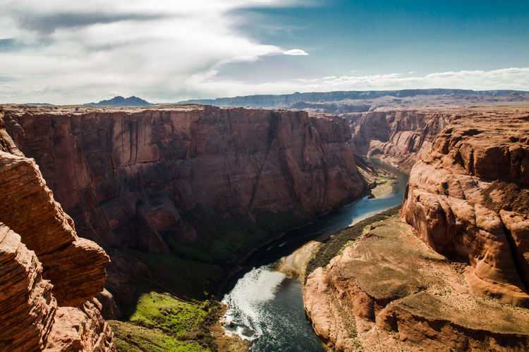 High angle view of colorado river at horseshoe bend
