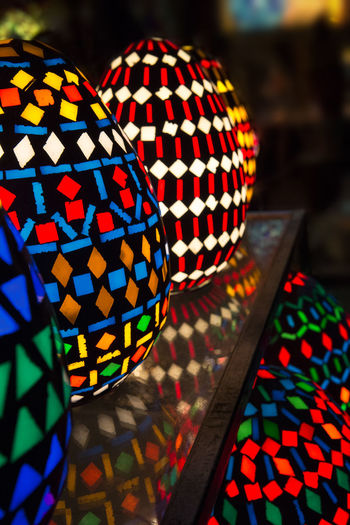 Bright Colors Colorful Egyptian Handwork Egyptian Lights El Moez Street El Moez Street , Cairo El Moez Street,Cairo,Egypt Glasswork Multi Colored Night Lights Night Photography Pattern