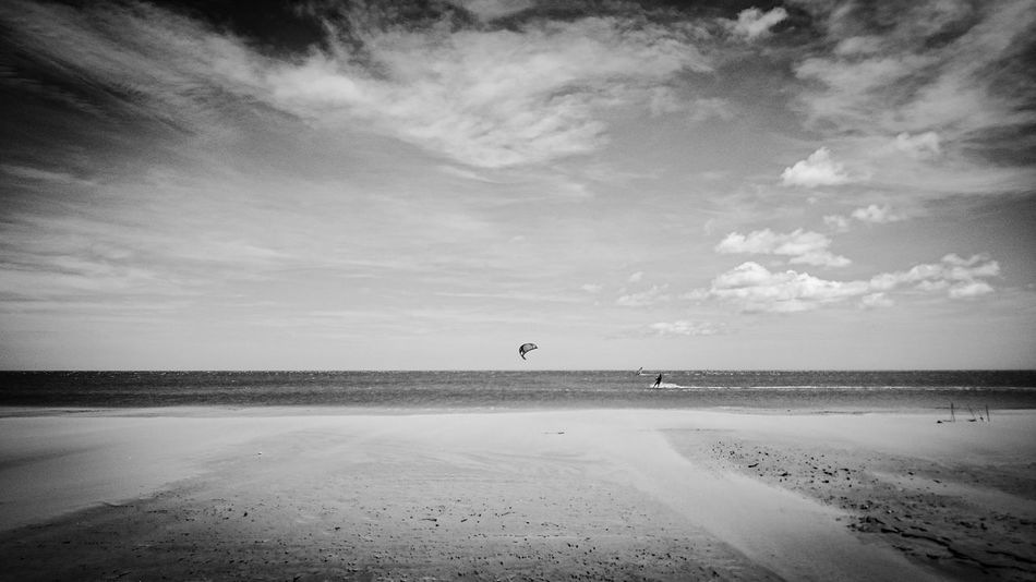 Beachphotography Black And White Landscape_Collection Enjoying The Sunset