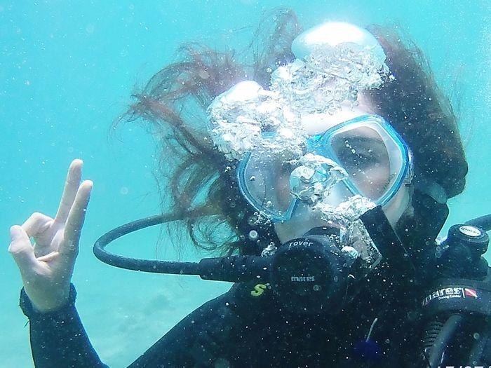 Nefes hayattir, gozumuzun onundedir her zaman... Scuba Diving Underwater Underwater Diving One Person Adventure Lifestyles First Eyeem Photo