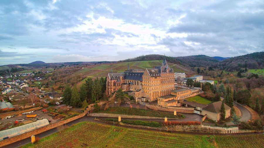 Castle Ahrtal Winter Germany Drone  Aerial View Aerial Photography Aerial Shot Dronephotography Travel Travel Destinations Wine Calvarienberg Ahr Sundown From Above  Landscape Cloud - Sky Mountain Agriculture Outdoors Full Frame Nature Ancient No People Rural Scene Sky Sunset Day Scenics