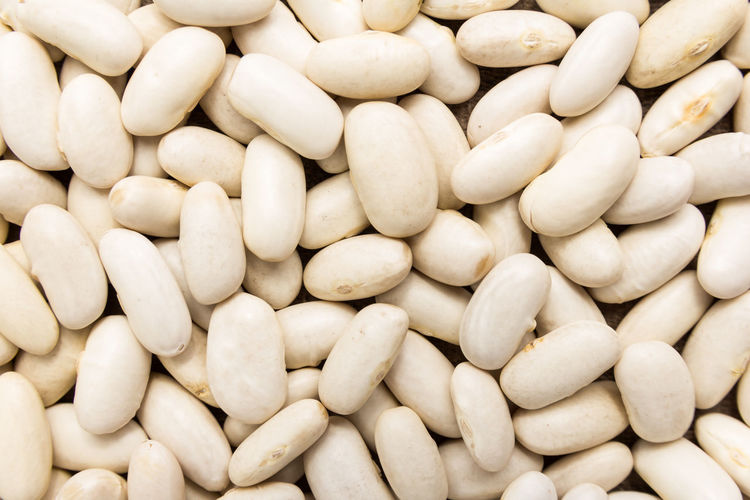 Full Frame Shot Of White Beans