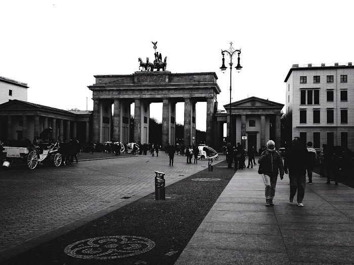 Brandenburg Gate Brandenburgertor Brandenburger Tor Berlin Deutschland Germany Blackandwhite Unesco UNESCO World Heritage Site Black And White