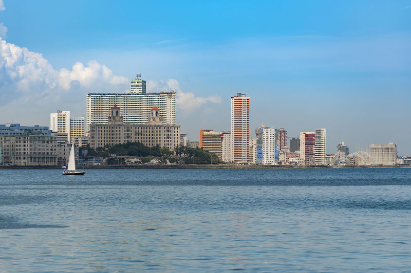 Havanascape Yacht Yachting Sailboat Urban Skyline City Cityscape Urban Skyline Water Modern Skyscraper Sea Sky Architecture Downtown District Waterfront Skyline Calm Tall - High Sailing Ship Sailing Regatta High Rise