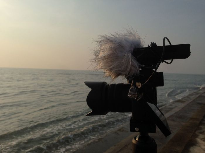 View Of Camera And Recording Device On Beach