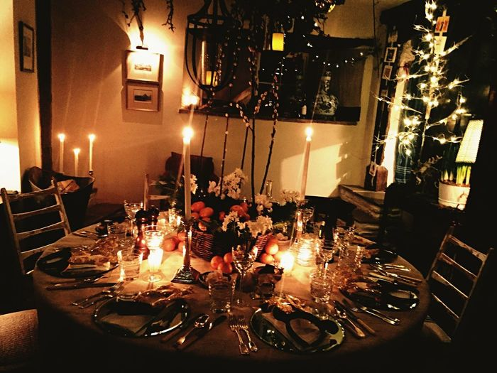 Christmas Eve Dinner Cosy Christmas Lights Christmas Ornament Christmas Decoration Winter Illuminated Table Night Flame Fire Burning Restaurant Glowing Food And Drink Candle Indoors  No People Food