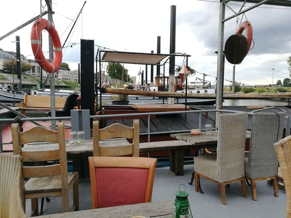 Opoe Sientje Bed And Breakfasts Beer Board Boat Dining Furniture House Boat Museum Restaurant Sailing Table Water Yellow