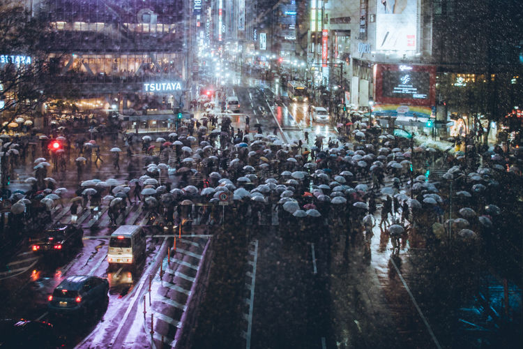 Cinematic Photography Crossing The Street Cyberpunk Japan Japanese  Rain Raining Rainy Days Shibuya Shibuyascapes Tokyo Architecture Atmospheric Mood Building Exterior Built Structure City City Life City Street Crossing Crowd Group Of People High Angle View Illuminated Large Group Of People Night Outdoors Rain Rainy Season Shibuyacrossing Street Through The Window Transportation Travel Destinations Urban Urban Landscape Water Wet Visual Creativity Adventures In The City Visual Creativity The Great Outdoors - 2018 EyeEm Awards The Photojournalist - 2018 EyeEm Awards The Street Photographer - 2018 EyeEm Awards The Architect - 2018 EyeEm Awards HUAWEI Photo Award: After Dark Humanity Meets Technology My Best Photo