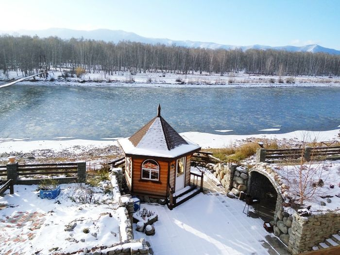 House in the Katun' river, Altay Snow Winter Cold Temperature Nature Frozen Tree Beauty In Nature Architecture No People Snowing Forest Outdoors Travel Destinations Altay House Day Sun Beauty In Nature Landscape Travel Photography Snowcapped Mountain Nature Russia Republic Altay Trip Photos