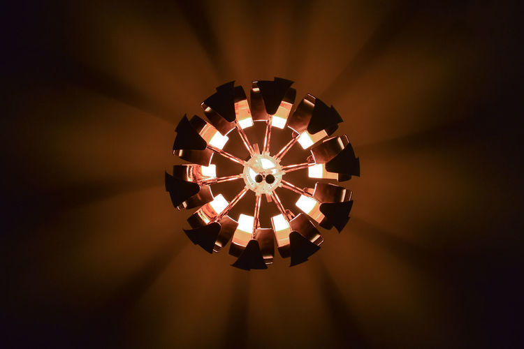 Death Star Illuminated Shape Lighting Equipment Indoors  Directly Below Light Circle Ceiling Electric Lamp Light Fixture Geometric Shape Electricity