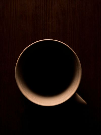 High angle view of empty coffee on table