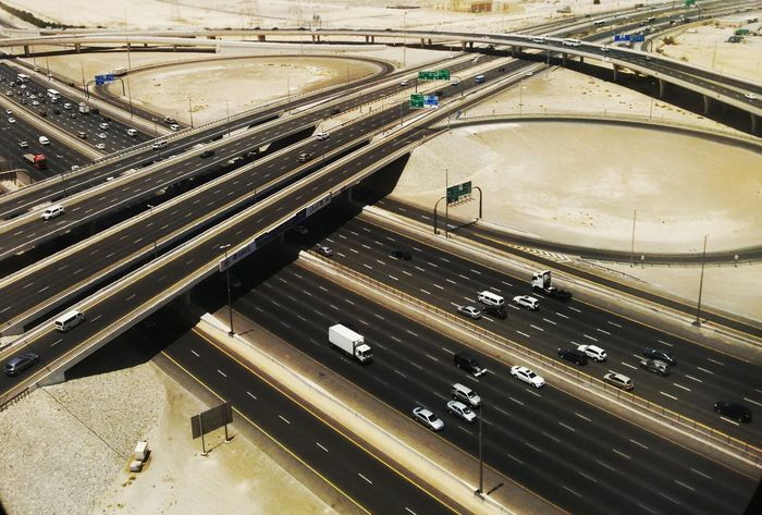 Flying High High Angle View Aerial View Passenger Boarding Bridge Dubai Aerial Shot Aerialview Aerial Photography Highways&Freeways Highway