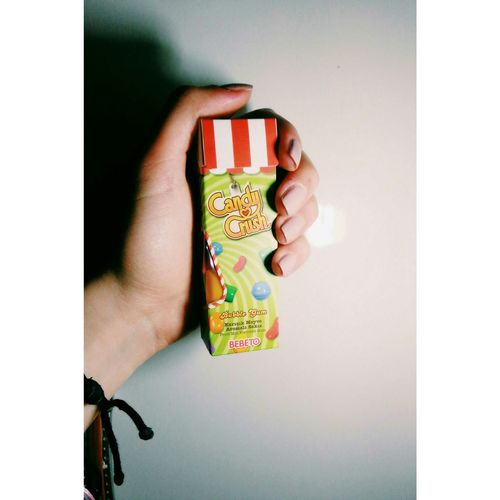 Candycrush Chewing Gum Colurful Delicious Bubble Gum Red Nailpolish Nails