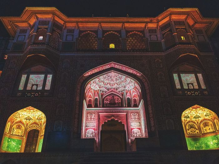 Royal fort Architecture Religion Built Structure Belief Building Spirituality Indoors  Art And Craft Place Of Worship No People Illuminated Arch Low Angle View Night Lighting Equipment Pattern Decoration Creativity Ornate Ceiling