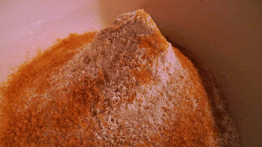 Since there's nothing to do, I'll turn this.... Close-up Flour Natural Cane Sugar Indoors  Photography
