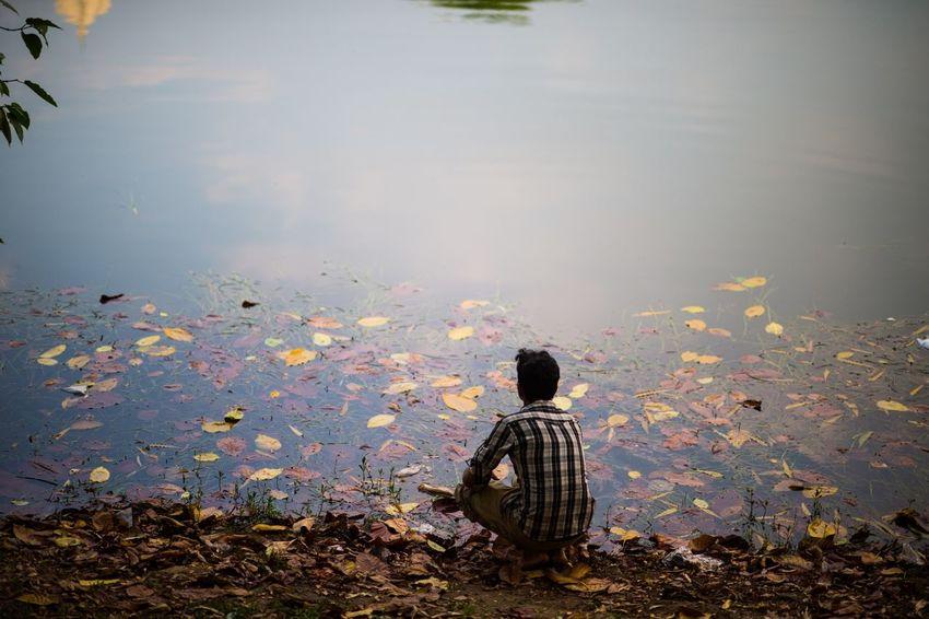 Nature At Your Doorstep Lake Man Polluted Bangladesh Dhaka