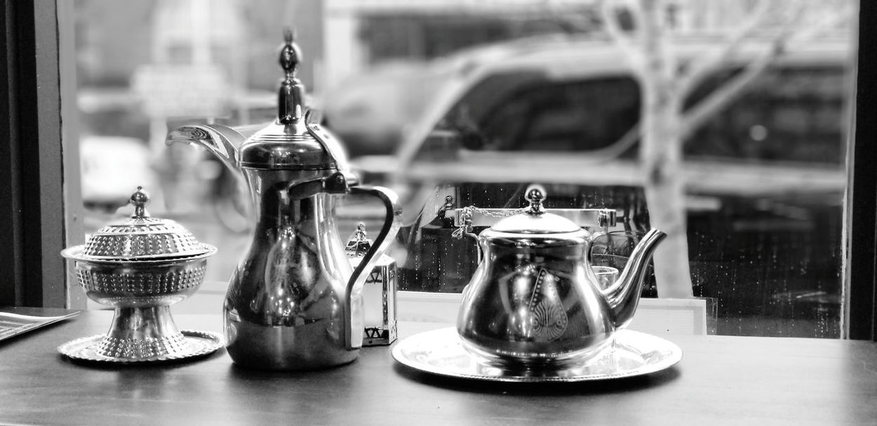 Black and white is the way to go EyeEm Selects Table Close-up Display Antique Window Display Shop