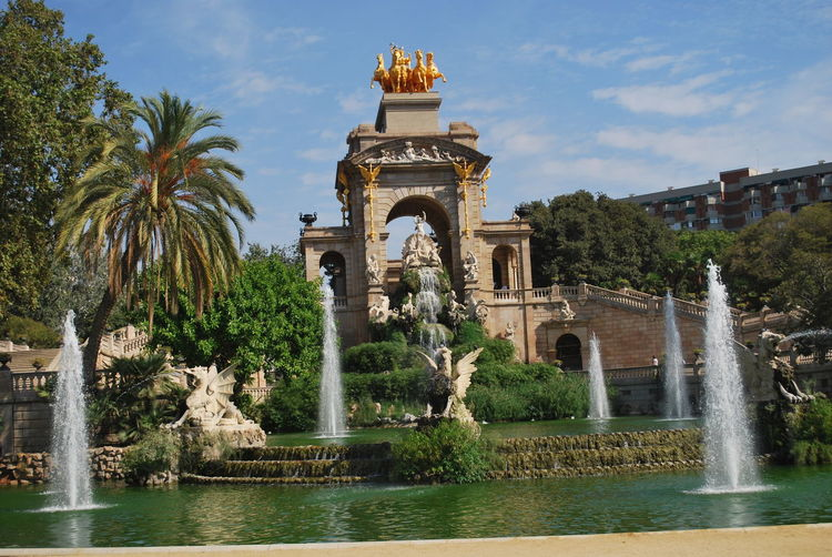 Architecture Barcelona Barcelona, Spain Catalonia Catalunya Day Fountain No People Outdoor Outdoor Photography Outdoors Outside Outside Photography Park Sculpture Sky SPAIN Statue Tree Water