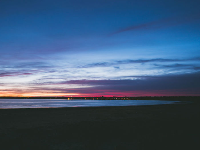 Colours in the Sky Clouds And Sky Clouds Sundown Halmstad Sea And Sky Nightphotography Sea Sea View