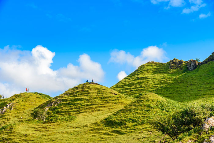 Fairy Glen Scotland Scottish Uig Animal Themes Beauty In Nature Blue Cloud - Sky Day Grass Green Color Growth Highlands Landscape Mountain Nature No People Non-urban Scene Outdoors Scenics Sky Slope Tranquil Scene Tranquility Travel Destinations