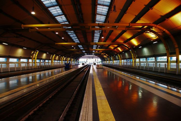 Empty Railroad Station Platforms