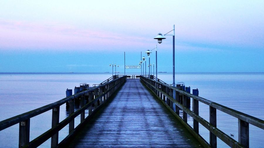 Seebrücke Sea Water Railing Horizon Over Water Outdoors Pier Nature The Way Forward No People Tranquil Scene Sky Scenics From My Point Of View Getting Inspired Taking Photos EyeEm Best Shots EyeEm Gallery Eye4photography  EyeEm Nature Lover Ostsee Bansin Germany Seabridge