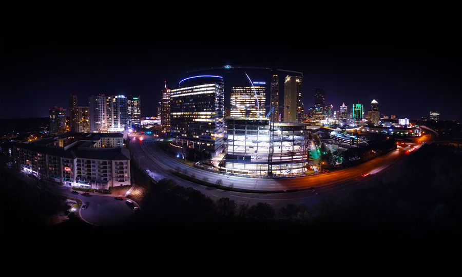 Panoramic View of Buckhead and Piedmont Rd. Midtown Atlanta. 24 pictures in 1. Buckhead Buckheadatlanta Atlanta Atlanta Ga Georgia Panorama Panoramic Photography Dronephotography Nightview Skysrapers