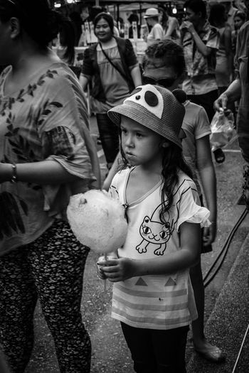 Girl with Candyfloss | Phuket from years ago. People Kids Karsada Karsadaserye Sakarsada Blackandwhite Street Photography Streetphotography Photo EyeEm Eyeem Philippines Expressions Outdoors Childhood Candy Visual Story Storytelling Visualstorytelling POTD