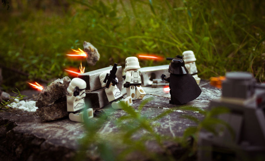 Burning Close-up Day Flame LEGO Lego Photography No People Outdoors Selective Focus Star Wars Stormtrooper Toy Toy Photography Tree