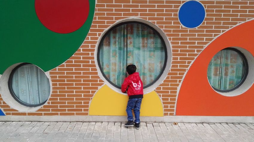 Colors And Patterns child looking boy colors light day