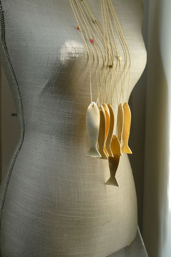 Golden Fish Portugal Alcacer Do Sal Art And Craft Costumejewellery Creativity Fashion Fish Mannequin