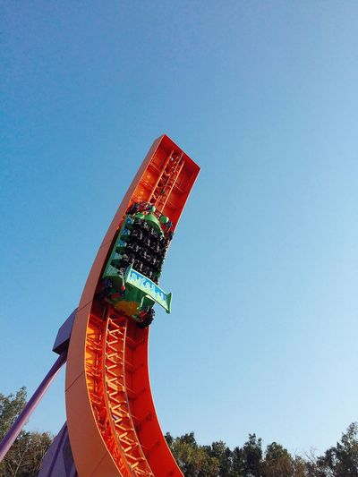 #disneylandhk #disneyland #toystory #hongkong Sky Low Angle View Red Clear Sky No People Architecture Outdoors Day