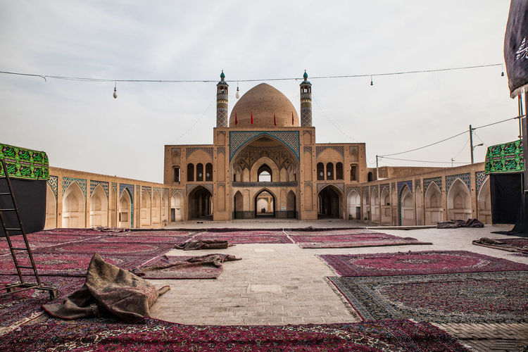 Arch Architecture Carpet Courtyard  Cultures Day Exotic Iran Mosque No People Outdoors Persia Pilgrimage Place Of Worship Praying Quran Religion Sky Teheran Teheran Shiraz Isfahan Yazd Kashan Tomb Tourism Travel Destinations World Heritage