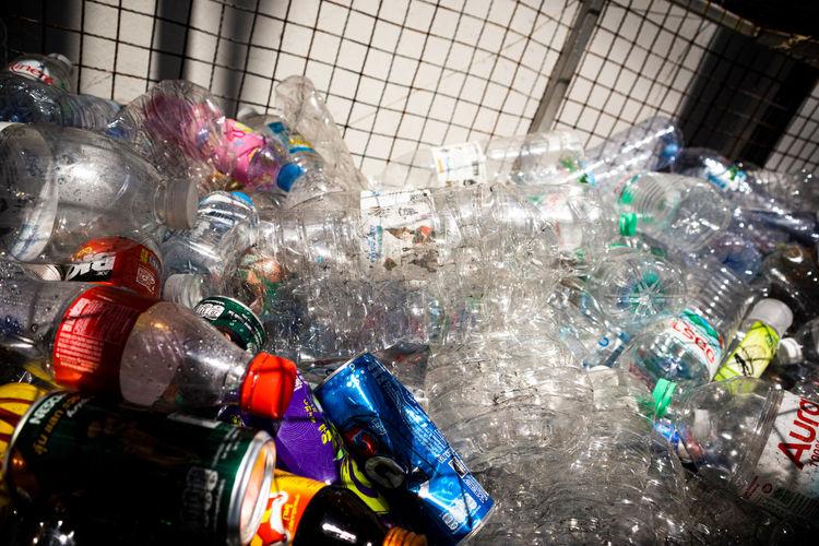 Garbage in bottles